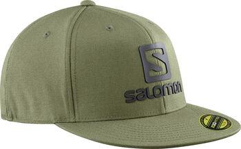 Salomon Logo Cap Flexflit baseball sapka zöld