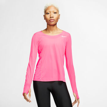 Nike Nk City Sleek Ls női hosszúujjú póló Nők rózsaszín