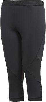 adidas YG Alphaskin Sport 3/4-es lány nadrág fekete