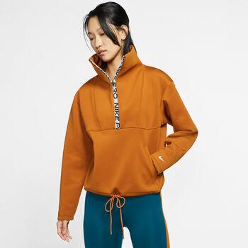 Nike Pro Fleece Cropped Mock női pulóver Nők narancssárga