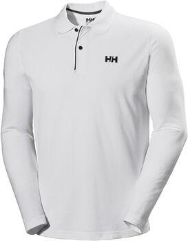 Helly Hansen Crew HH Classic férfi hosszú ujjú galléros póló Férfiak fehér