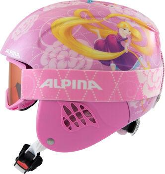 ALPINA Carat Disney Set lány sísisak rózsaszín