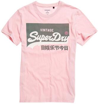 Superdry  Vl O Pastel Teeférfi póló Férfiak rózsaszín