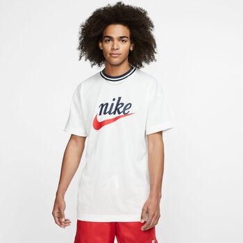 Nike Sportswear Mesh férfi póló Férfiak fehér