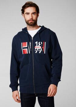 Helly Hansen 1877 FZ Hoodie férfi kapucnis felső Férfiak kék