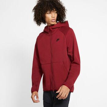 Nike Nsw Tch Flc Hoodie kapucnis felső Férfiak piros