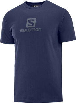 Salomon Coton Logo SS férfi póló Férfiak kék