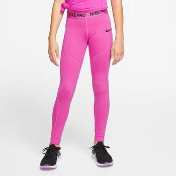 Nike Pro Big Kids' Tights Lány rózsaszín