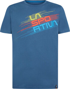 La Sportiva Stripe Evo férfi póló Férfiak kék