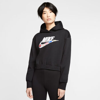 Nike Női-Kapucnis pulóv. W NSW ICN CLSH FLC H Nők fekete