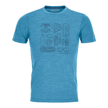ORTOVOX Cool Tec Puzzle M férfi túrapóló Férfiak kék