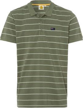 Roadsign Stripes férfi galléros póló Férfiak barna