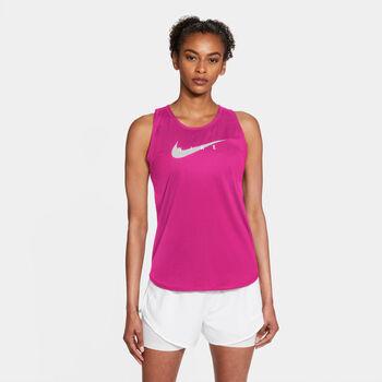 Nike Swoosh Run női top Nők piros