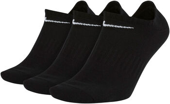 Nike Everyday Lightweight No-Show Training Socks (3 Pair) fekete