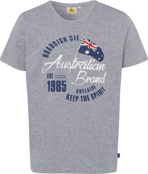 Roadsign  Logo Australianférfi póló Férfiak szürke