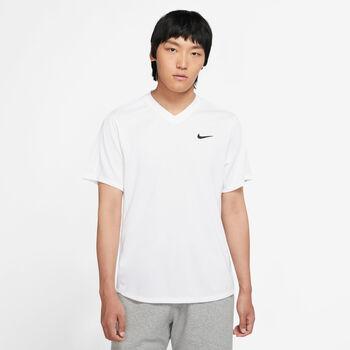 Nike  M NKCT Dry Victory Topférfi teniszpóló Férfiak fehér