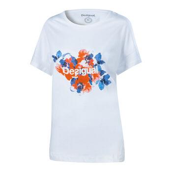 Desigual Camo Flower női póló Nők fehér