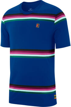 NikeCourtStriped Tennis T-Shirt kék