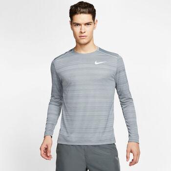 Nike Dri-FIT Miler LS férfi hossú ujjú futópóló Férfiak szürke