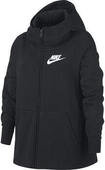 Nike G Nsw Hoodie Fz Pe gyerek kapucnis felső fekete
