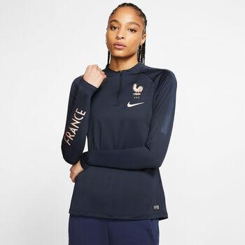 Nike Dri-FIT FFF Squad Drill Top Nők kék