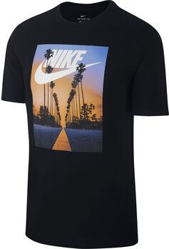 Nike Nsw Sunset Palm férfi póló Férfiak fekete