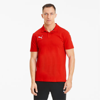 Puma teamGOAL 23 Casuals férfi galléros póló Férfiak piros