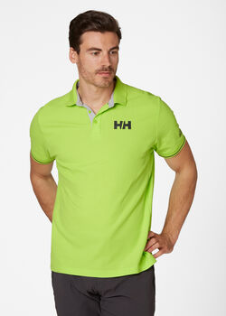 Helly Hansen HP Shore férfi galléros póló Férfiak zöld