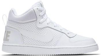 Nike Court Borough Mid GS gyerek szabadidőcipő fehér
