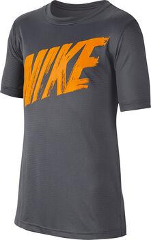 Nike Dri-FIT Big Kids' Short-Sleeve Training Top Férfiak szürke