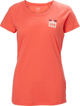 Helly Hansen  W Nord Graphicnői póló Nők narancssárga