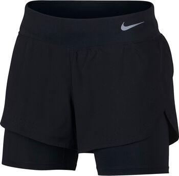 Nike Eclipse 2 in 1 női futó rövidnadrág Nők fekete