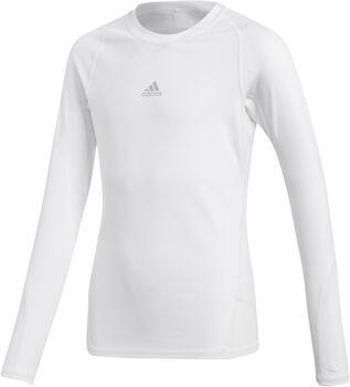 adidas Alphaskin LS Y gyerek hosszú ujjú aláöltözet Fiú fehér