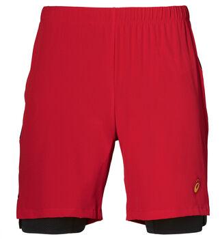 asics 2-N-1 7IN Short Férfiak piros
