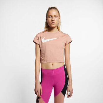 Nike Swoosh SS Crop Top női póló Nők rózsaszín