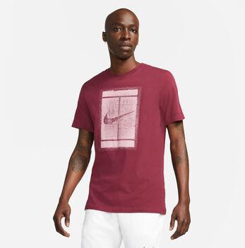 Nike Court SS férfi póló Férfiak piros
