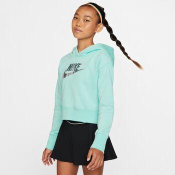 Nike G Nsw FF Crop lány felső zöld