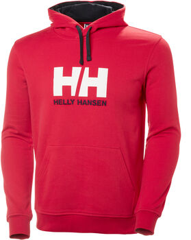 Helly Hansen HH Logo Hoodie férfi kapucnis felső Férfiak piros