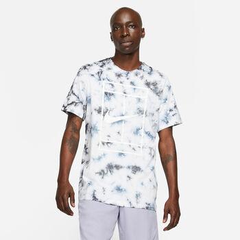 Nike NKCT Tee Heritage Dye férfi teniszfelső Férfiak fehér