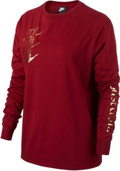Nike Sportswear LS Shine női pulóver Nők piros