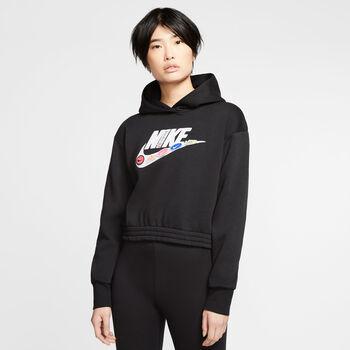 Nike  Női-Kapucnis pulóv. WNSW ICN CLSH FLC H Nők fekete