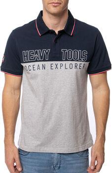 Heavy Tools Dibner férfi galléros póló Férfiak kék