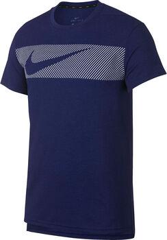 Nike BreatheShort-Sleeve Training Top Férfiak kék