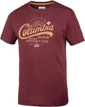 Columbia Leathan Trail Tee férfi póló Férfiak piros