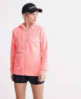 Superdry Core Sport Zip női kapucnis felső Nők narancssárga