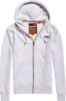 Superdry Orange Label FZ férfi kapucnis felső Férfiak törtfehér