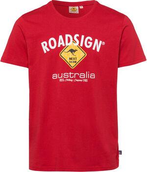 Roadsign  Logo Rauteférfi póló Férfiak piros