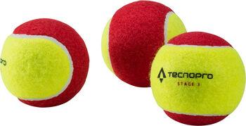 TECNOPRO Bash Stage 3 teniszlabda gyerekek részére (3 db) sárga
