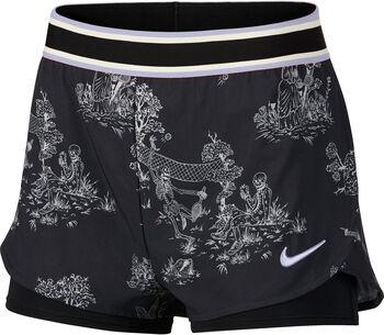 Nike Court Flex Printed Tennis Shorts fekete