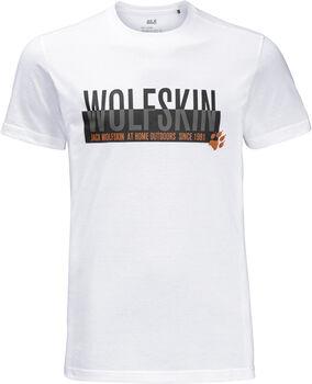Jack Wolfskin Slogan T Men Férfiak fehér